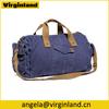 6008 Good Quality Duffel Bag Style Navy Blue Men's Canvas Sport Overnight Shoulder Bag Gym Bag for Men