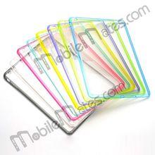 Simple Plain Transparent Back Case TPU PC Bumper Case for iPad Mini