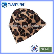 Hot Sale Ladies Sex Leopard Print Winter Beanie Hat