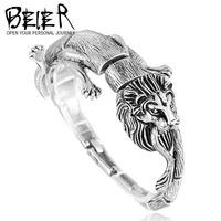 2015 newest products high quality fashion men lion bracelet stainless steel unique bracelet