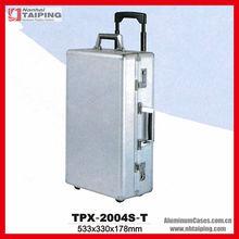 Silver aluminum luggage case