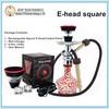 Square electronic shisha e hookah square smoke e-head