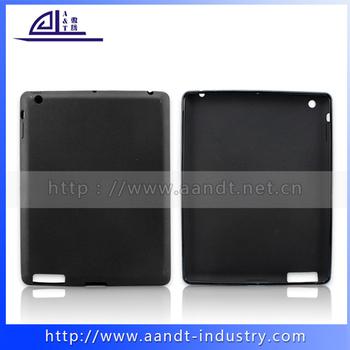 Custom logo printing New Protective flexible Silicon/TPU Case For iPad 3