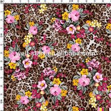 Animal skin and flower design heat transfer printed paper for garment