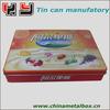 HOT sale famous metal candy tin box/ Rectangular cookies tin box