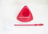 HQ1860 corner design red base with toilet bowl brush set long handle