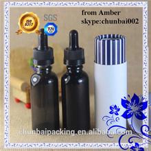 hot shine black glass Bottle 30ml 15ml childproof cap for bottle eliquid dropper