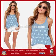 2014 custom womens clothing printed tank tops