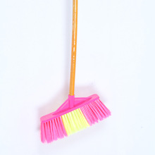 Plastic besom wholesale pink and yellow broom