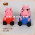 Liya rosa porco annimal brinquedo de plástico macio, boneca de vinil