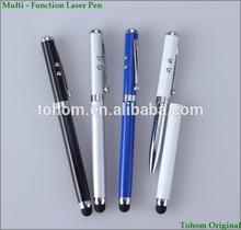 multifunctonal promotional metal stylus pen with laser pointer