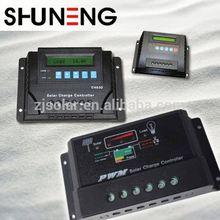 SHUNENG 30a 12v/24v automatic identification lcd intellige
