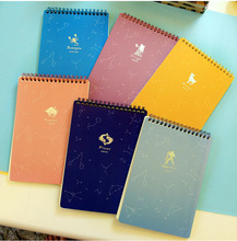 2014 hot selling wholesale spiral notebook color pages