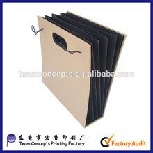 elastic closure folder paper box file paper expanding wallet