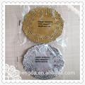 14cm glaring cor prata e dourado papel de laço doilies