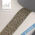 2015 alta qualidade novo design de tecidos bordados de contas e paetês corte