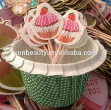 Happy birthday cake decorations Toothpick Cocktail Umbrella