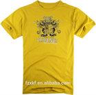 Man yellow printed plain t shirt China export t shirts
