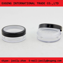 Cosmetic new style clear round window cap loose powder jar