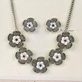 Charmant schmuck shell blume mit hohlen blumen rose gänseblümchen-design collier-set nk118