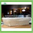 wholesale white rectangle wicker basket