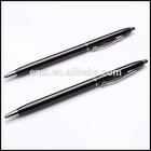 fashion black push type metal ballpoint pen graceful //inkless metal pen