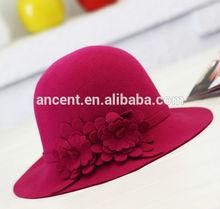Women wool felt hat felt bowler hats