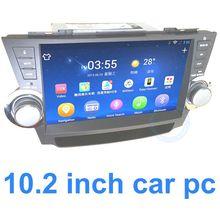 "ODM Big Screen for Highlander sunlight readable 10.2"" wifi vehicle gps navigator 2 Din"