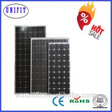 125*125 260W Mono 12v 3w solar panel