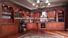 Rojo de madera del gabinete de cocina/gabinete de cocina de madera prensada