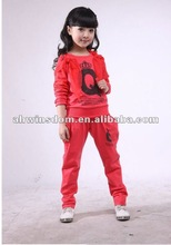 2012 fashion spring&autumn knit two pieces children set