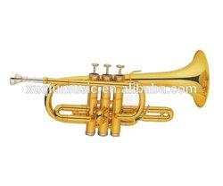 Gold Lacquer C Key Children Trumpet/trompetas chinas