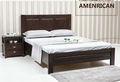 Cama de madeira maciça/ash mobília moderna do quarto nogueira americana cama 1.8/1.5 us09 m
