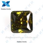 cubic zirconia stone mood stones /dark peridot square cubia zirconia big cubic zirconia stone