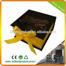 Book Shaped Black Chocolate Box With Yellow Ribbon