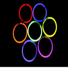 100pcs/Lot Multi Color Glow Stick Party Light Bracelets Glow sticks light stick neon +Connectors Party wedding supplies