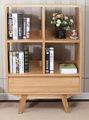 Japonês- estilo da madeira contínua armário de tv de canto do armário de exposição do gabinete moderno e minimalista white oak móveis para sala l025 jp