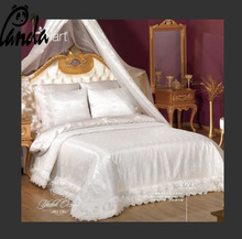 Luxurious silk bedding sheet, quilt cover and pillowcase
