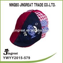 fancy sports cap cowboy cotton fabric custom child ivy cap