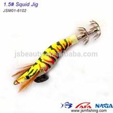 high quality plastic fishing baited squid jigs