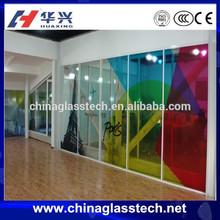 Sound insulation aluminium frame new design stained glass door