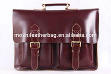 Vintage Genuine Leather Briefcase, Men's Handbag Laptop Messenger Bag 0344