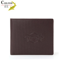 New product online shopping cowhide wallet with cell phone pocket