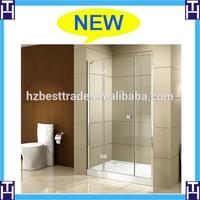 straight shower door hinge door shower screen with australian certificate