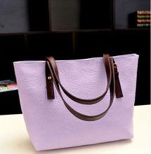 Korean style Lady PU leather tote handbag business messager shoulder bag