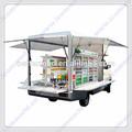 Móvil de camiones de comida/helado carrito/hot dog carro móvil de alimentos