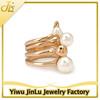 Fashion pearl ring sets 16k gold ring