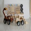 venta al por mayor 2014 de bricolaje de madera de coche y camión rompecabezas 3d juguete de bricolaje