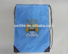2014 blue customized gym sack drawstring bag