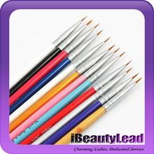 12pcs colorful nail art brush set nail painting brush drawing brush